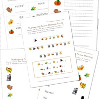 Printable Thanksgiving Worksheets for Kids