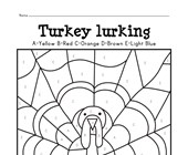 Turkey Color by Letter