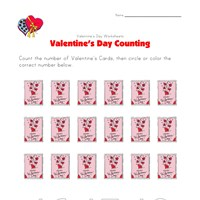 valentines day worksheet counting eighteen