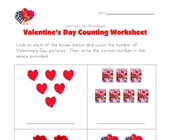 valentines day counting practice worksheet