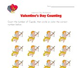 valentines day worksheet counting twelve