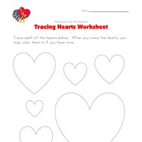 Heart Tracing Worksheet