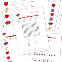 Valentine's Day Worksheets for Kids