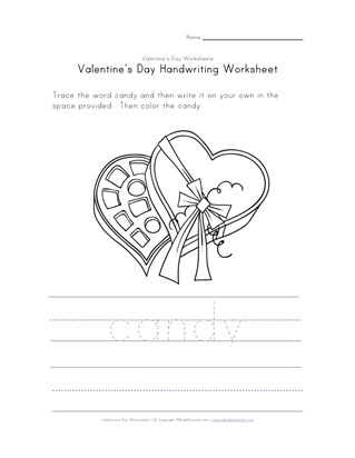 valentine's day handwriting worksheet