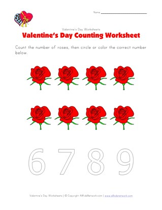 valentines day counting 8