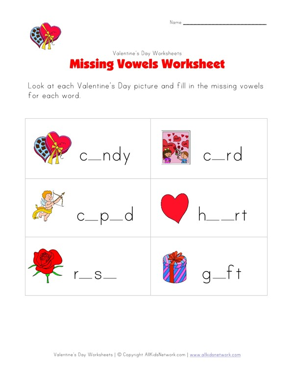 picture about Valentine Printable Worksheets identify Printable Valentines Working day Shed Letters Worksheet All