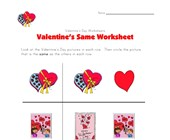 valentines day same worksheet