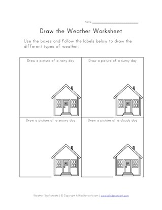 Weather Worksheets for Kids | All Kids Network