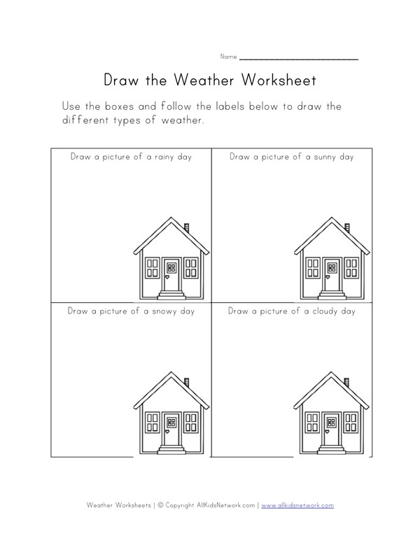 Draw The Weather Worksheet All Kids Network