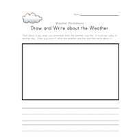 draw and write about weather worksheet