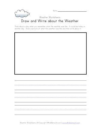 Draw and Write about the Weather | All Kids Network