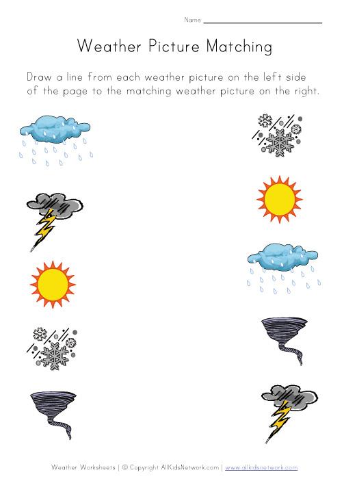 Free Printable Kindergarten Weather Worksheets