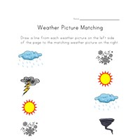 weather matching worksheet