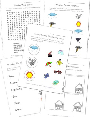 Weather Worksheets for Kids