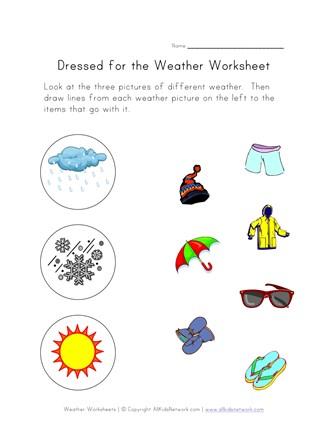 Weather Worksheet All Kids Network