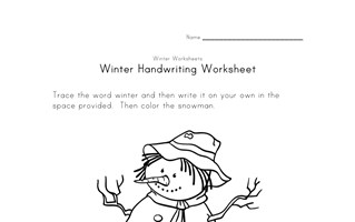 snowman handwriting worksheet