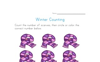Scarf Counting Worksheet - Number Nine