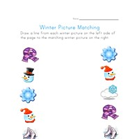 winter matching worksheet