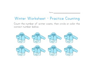 Coat Counting Worksheet - Number Sixteen