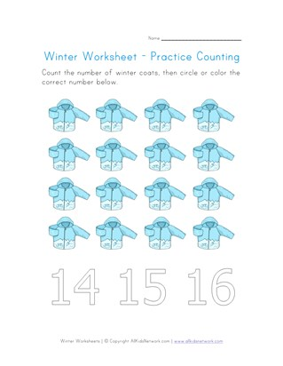 Winter Worksheets for Kids | All Kids Network