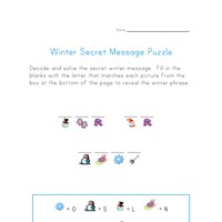 winter secret message puzzle