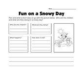 Plan and Write Worksheet - Snowman Story