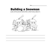 Picture Prompt Writing Worksheet - Snowman Story