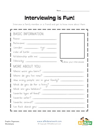 graphic organizer interview