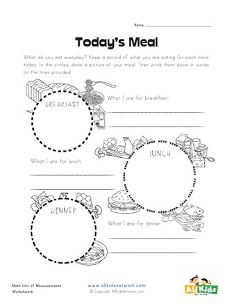 meals graphic organizer