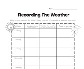 weather graphic organizer