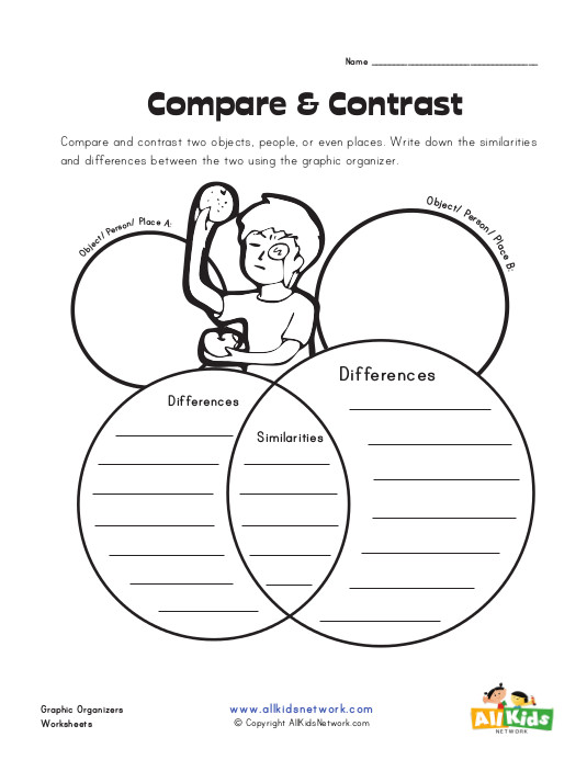 writing compare and contrast essays for kids