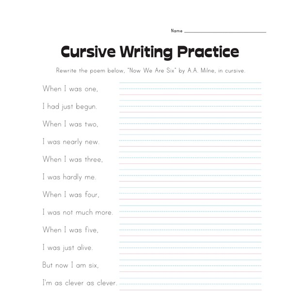 Free Worksheets 5th grade handwriting worksheets 5th Grade – Writing Name Worksheet
