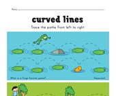 curved lines pre-writing worksheet