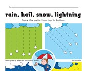 tracing lines weather worksheet