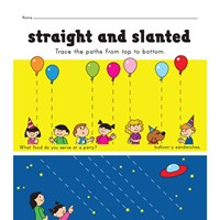straight and slanted lines pre-writing worksheet