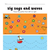 tracing zig zag and wavy lines worksheet
