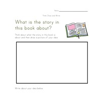 Worksheets Draw And Write Worksheet think draw and write worksheets all kids network book worksheet