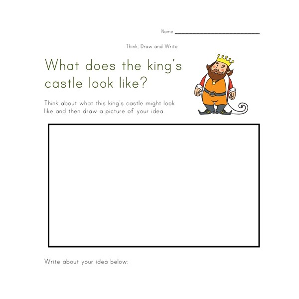 Worksheets Draw And Write Worksheet think draw and write worksheets all kids network castle worksheet