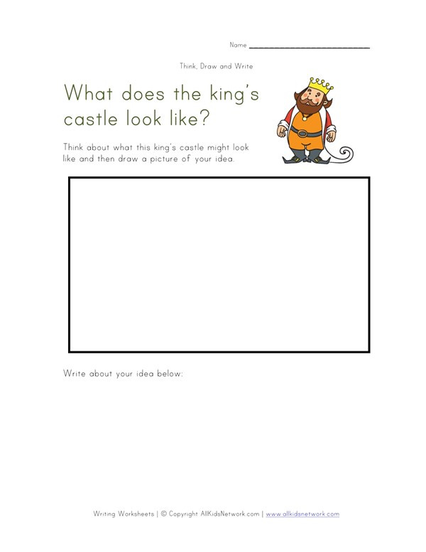 Think, Draw and Write - Castle   All Kids Network