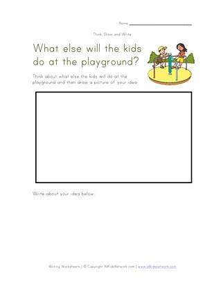 Draw and write worksheet kidz activities think draw and write worksheets all kids network ccuart Choice Image