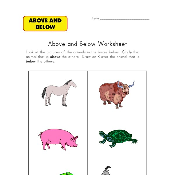 Farm Animals Worksheets For Kids All Work Dinocroinfo. Year 6 Sats Practice Worksheets Tennyson Road Primary School. Worksheet. Above Below Worksheets At Clickcart.co