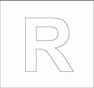 R Alphabet Letter Alphabet Stencils | All Kids Network