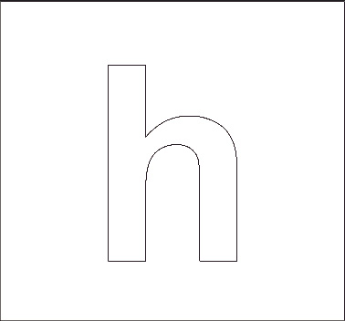 lowercase h stencil