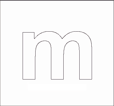 Lowercase M Alphabet Stenncils Pag...