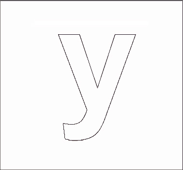Y Alphabet Letter lowcase letter y colouring pages