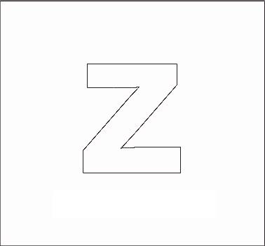 Lowercase Letter Z Alphabet Stenncils Pag...