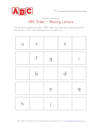 free printable abc order worksheets for kindergarten letter and alphabet activities at. Black Bedroom Furniture Sets. Home Design Ideas