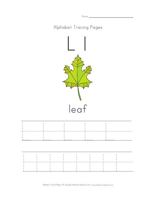 Pages further Letter L Tracing Worksheet. on worksheet for alphabet e ...