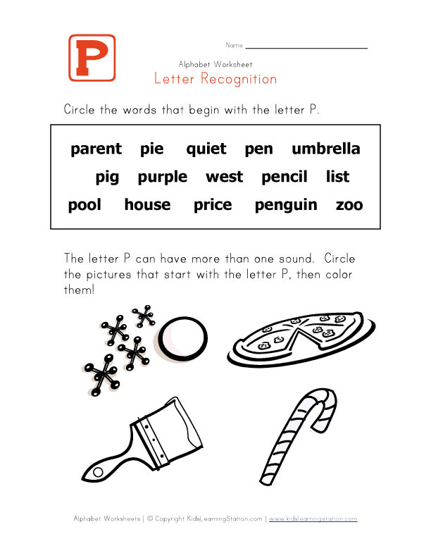 5 letter words that start with s pin find the letter q five ducks worksheets 20246 | Words That Start With The Letter P