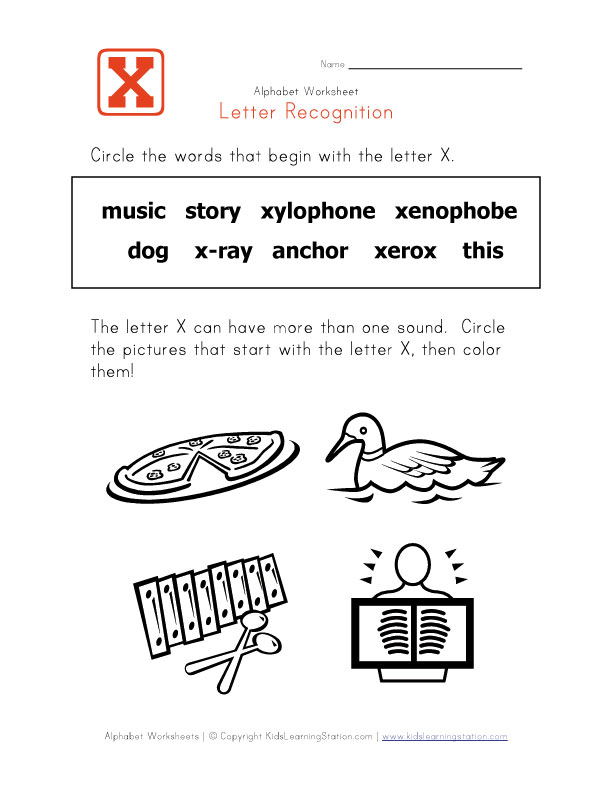 Worksheets Pictures That Start With X kindergarten words that start with x geraldine childrens bed time story x